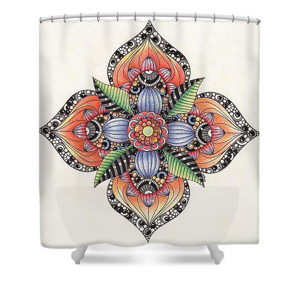 Zendala Template #1 Shower Curtain