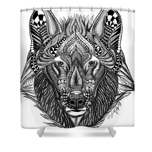 Zendoodle Wolf Shower Curtain