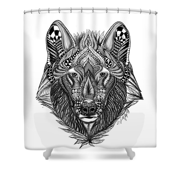Zendoodle Wolf Shower Curtain