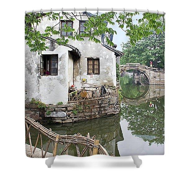 Zhouzhuang - A Watertown Shower Curtain