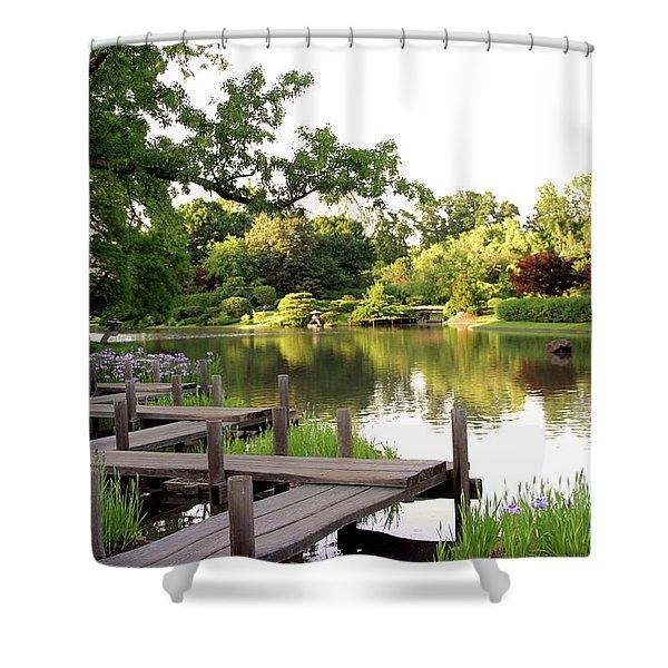 Zig Zag Bridge 2703 H_2 Shower Curtain