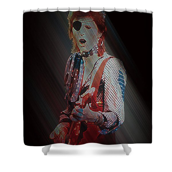 Ziggy Played Guitar Shower Curtain