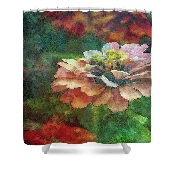 Zinnia Impression 1120 Idp_2 Shower Curtain