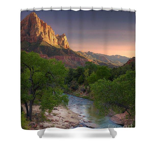 Zion Canyon Sunset Shower Curtain