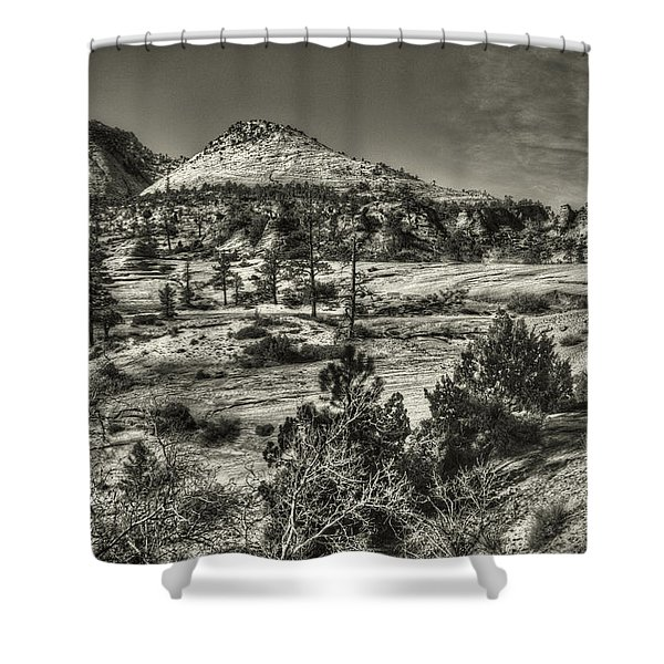Zion National Park Along Rt 9 Shower Curtain