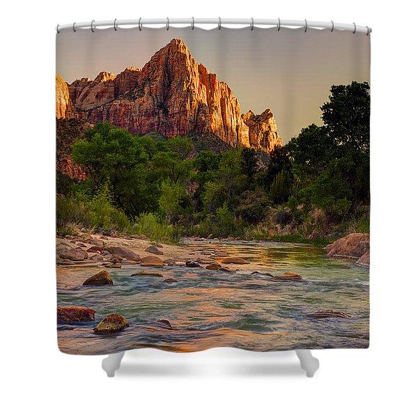 Zion Sunet Shower Curtain