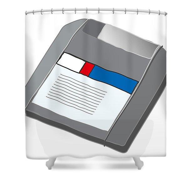 Zip Disk Shower Curtain