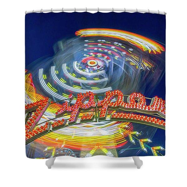 Zipper Shower Curtain