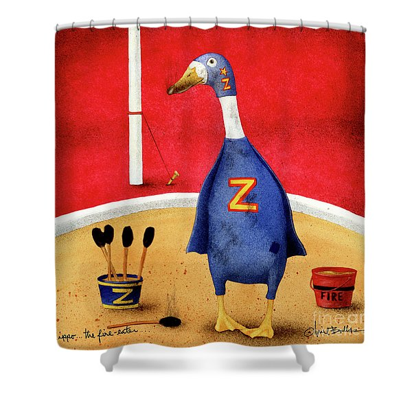 Zippo, The Fire-eater Shower Curtain