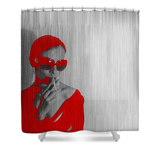 Zoe In Red Shower Curtain