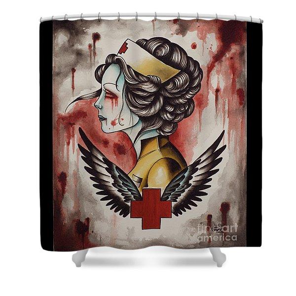 Zombie Nurse Shower Curtain