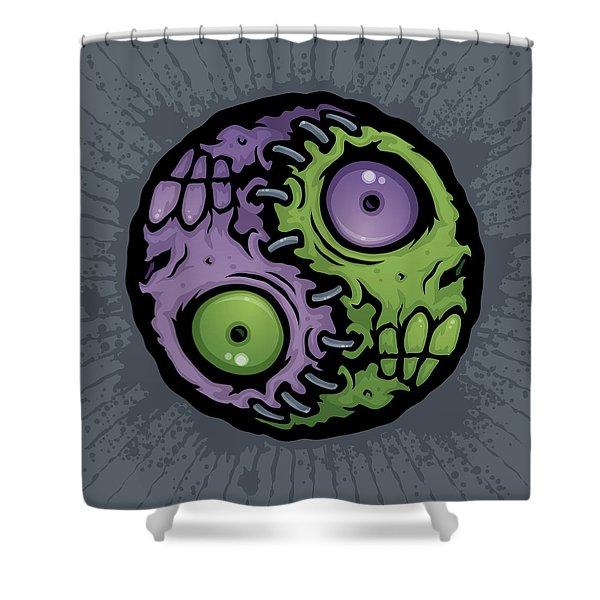 Zombie Yin-yang Shower Curtain