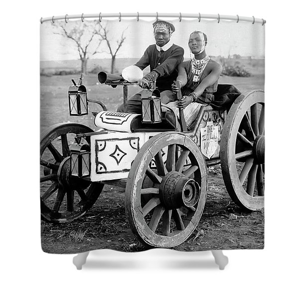 Zulu Motor Cab 1903 Shower Curtain