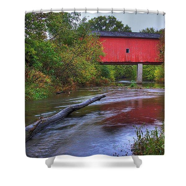 Zumbrota Minnesota Historic Covered Bridge 5 Shower Curtain