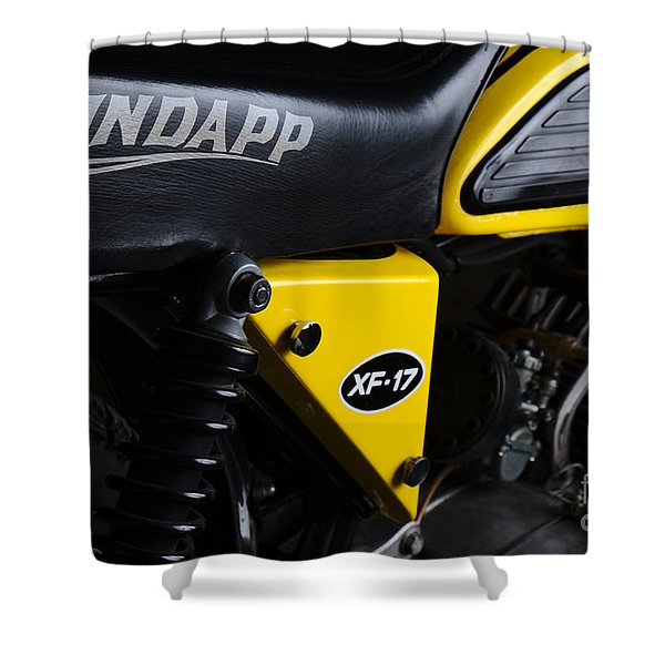 Classic Zundapp Bike Xf-17 Side View Shower Curtain