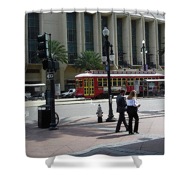 010219 Canal St Shower Curtain