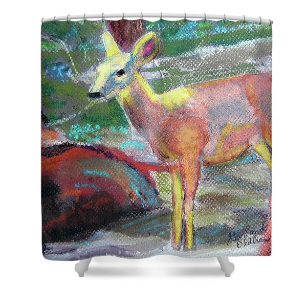 011719 Bambi 's Day Out Shower Curtain