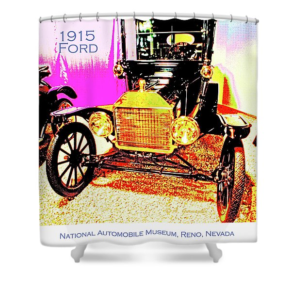 1915 Ford Classic Automobile Shower Curtain