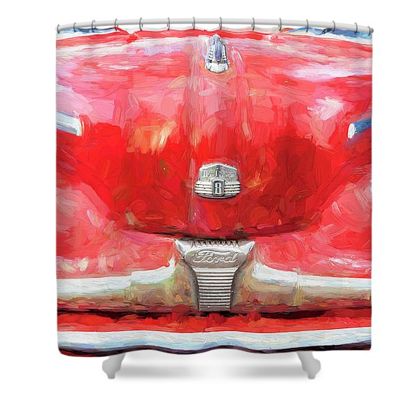 1947 Ford Super Deluxe Coupe 006 Shower Curtain