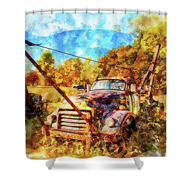 1950 Gmc Truck Shower Curtain