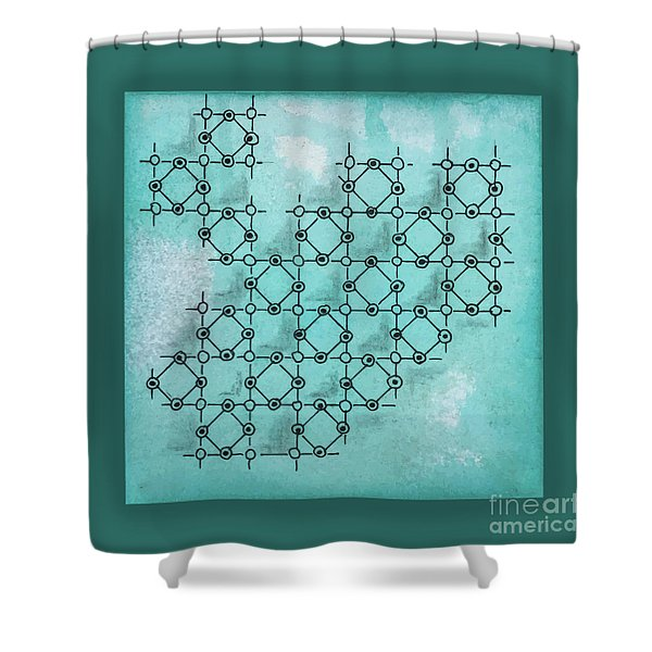 Abstract Biological Illustration Shower Curtain