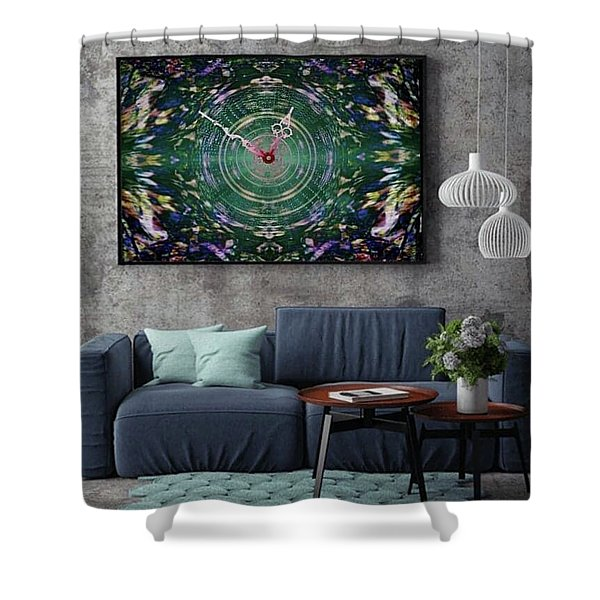 Abstract Cherry Blossom Shower Curtain