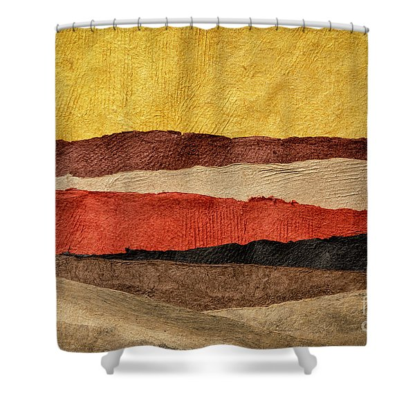 Abstract Landscape In Earth Tones Shower Curtain