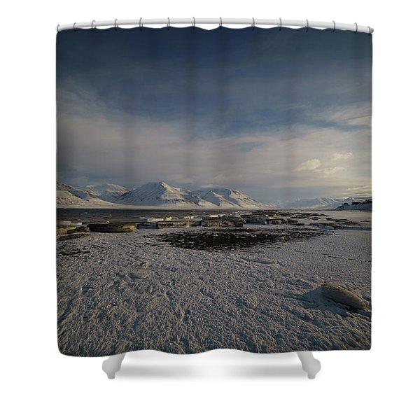Adventfjorden Shower Curtain