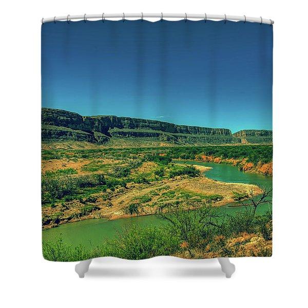 Along The Rio Grande Shower Curtain