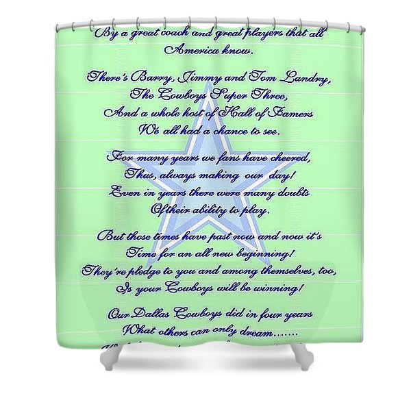 Shower Curtain featuring the digital art America's Team Poetry Art by Stanley Mathis