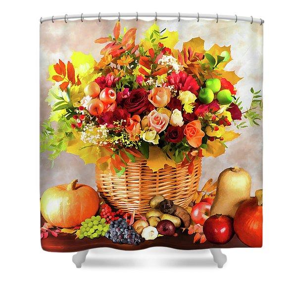 Autum Harvest Shower Curtain