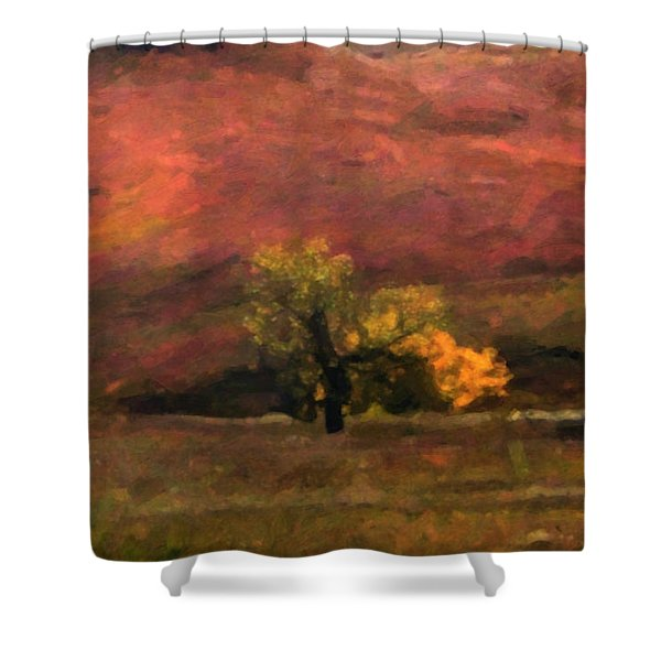 Shower Curtain featuring the painting Autumn by Gerlinde Keating - Galleria GK Keating Associates Inc