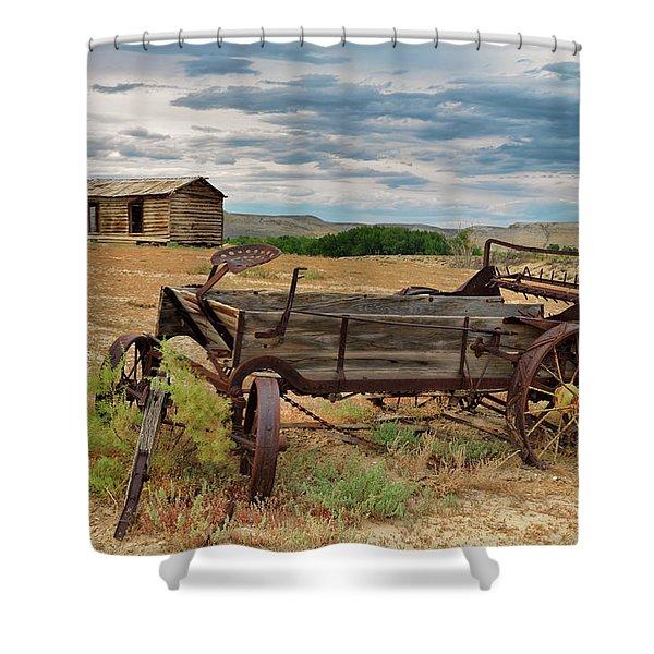 Bighorn Basin History Shower Curtain