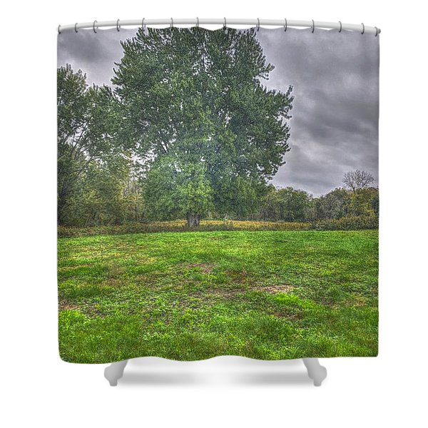 Blacklick Circle Earthwork Shower Curtain