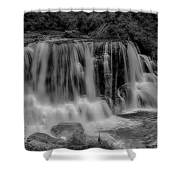 Blackwater Falls Mono 1309 Shower Curtain