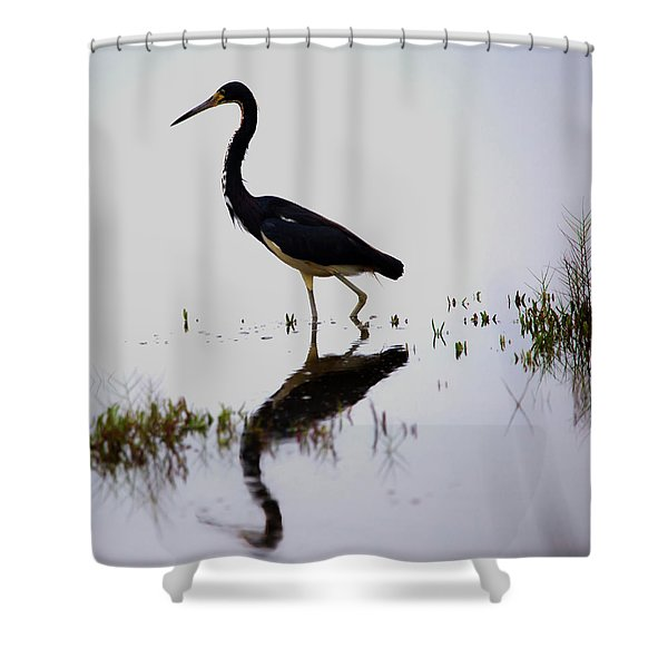 Blue Reflection Shower Curtain