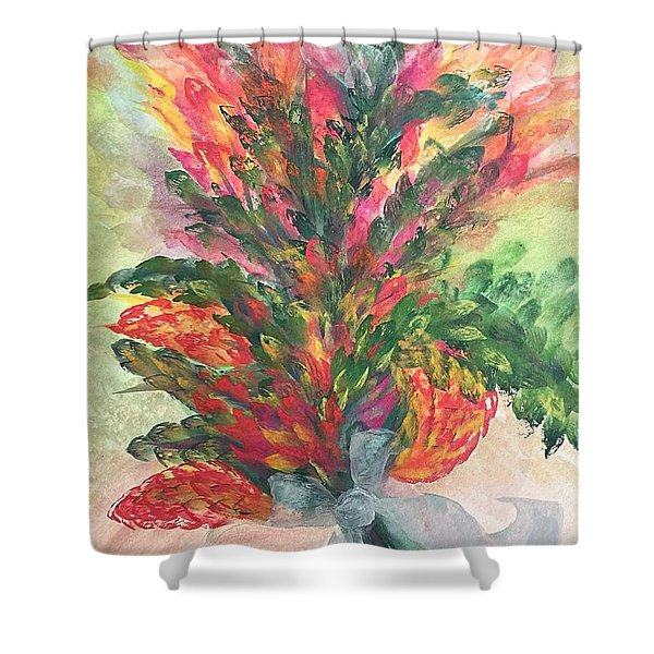 Bouquet And Ribbon Shower Curtain
