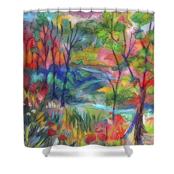 Bright Country Shower Curtain