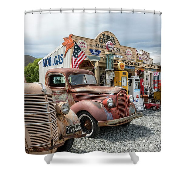 Burkes Pass - New Zealand Shower Curtain