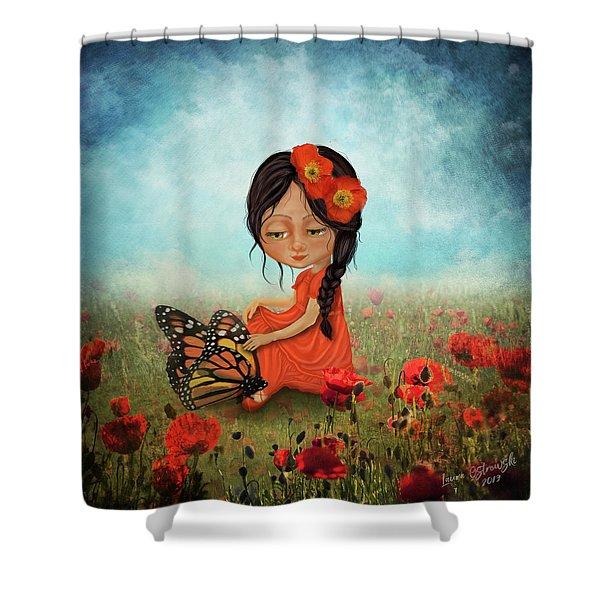 Butterfly Whisperer Shower Curtain