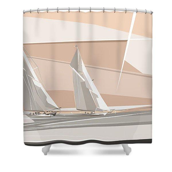 C-class Yachts  Shower Curtain