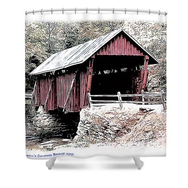 Campbells Covered Bridge Shower Curtain