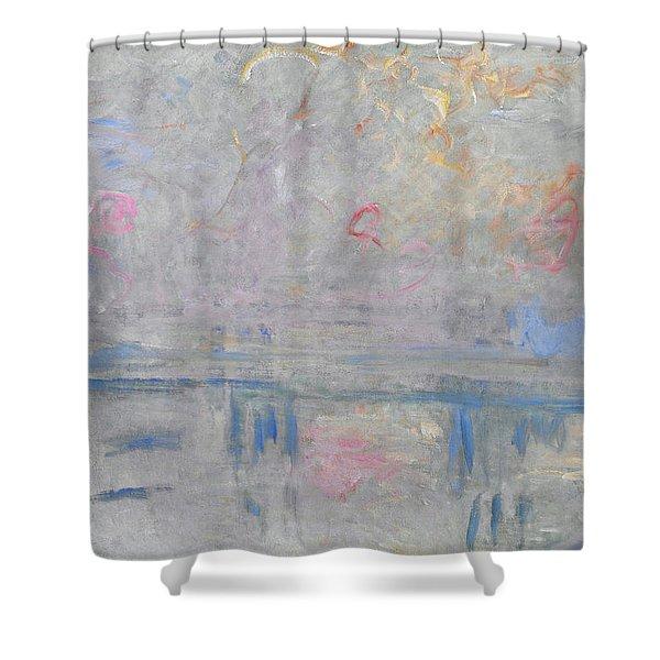 Charing Cross Bridge - Digital Remastered Edition Shower Curtain