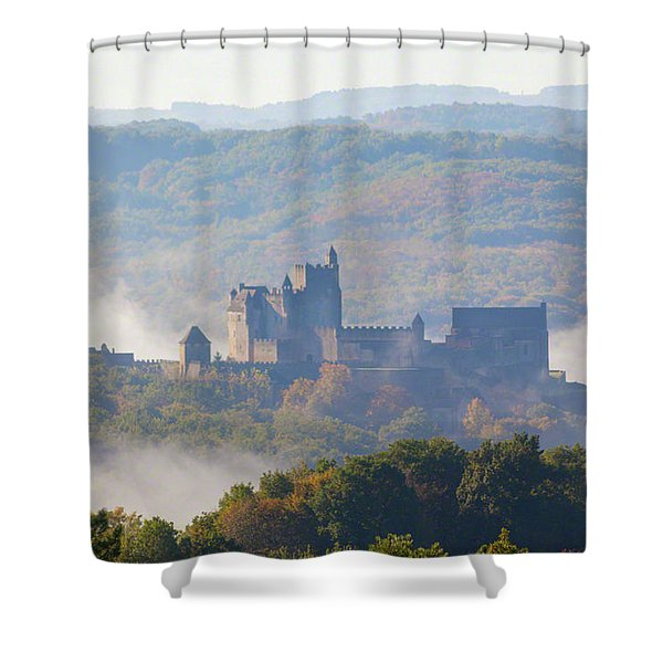 Chateau Beynac In The Mist Shower Curtain