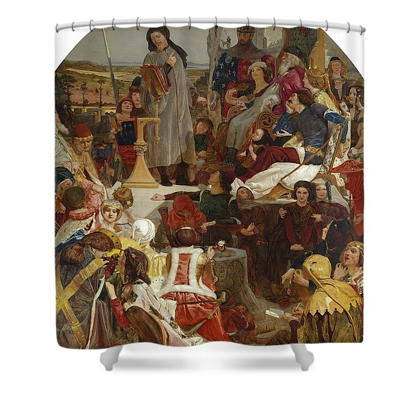Chaucer At The Court Of Edward IIi Shower Curtain