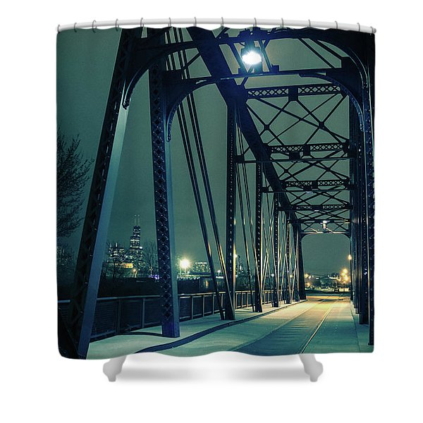 Chicago Railroad Bridge Shower Curtain