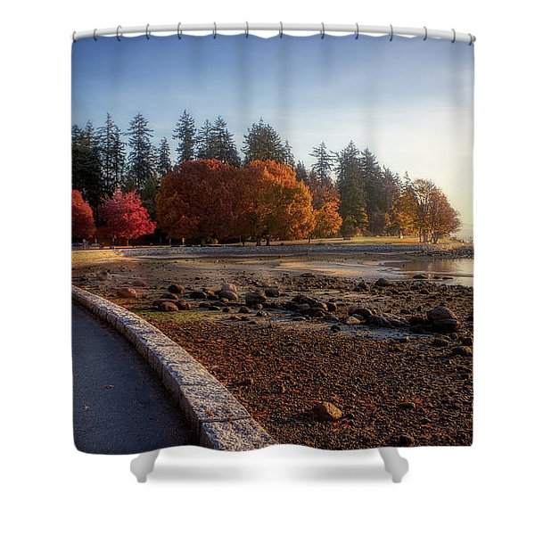 Colorful Autumn Foliage At Stanley Park Shower Curtain