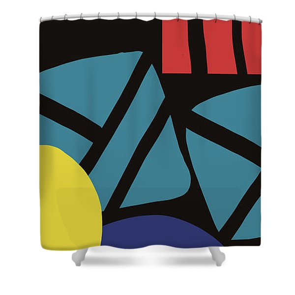 Colorful Bento 3- Art By Linda Woods Shower Curtain