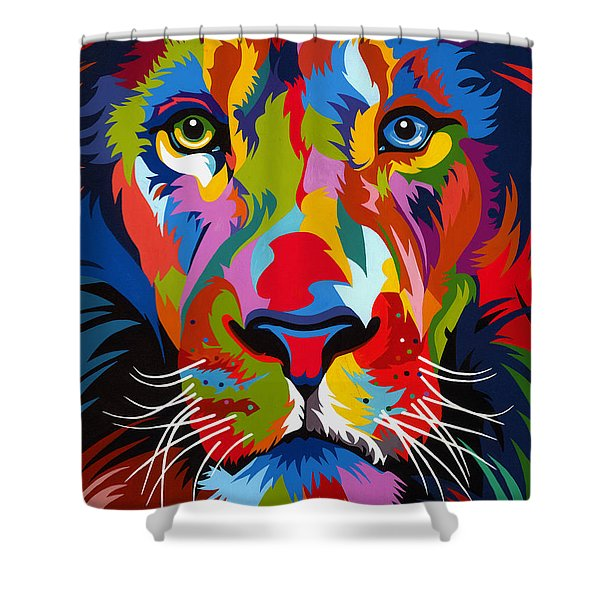 Colorful Lion Shower Curtain