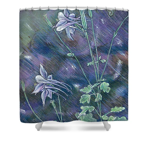 Columbine Song Shower Curtain